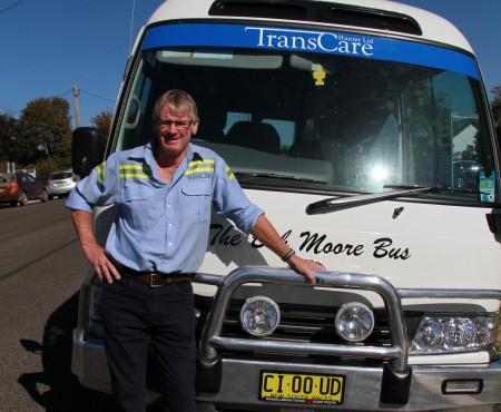 Celebrating 20 years with bus driver Chris