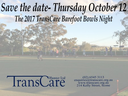 2017 TransCare Barefoot Bowls Night