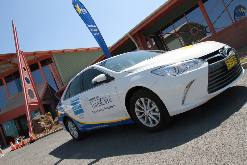 Transport to Treatment car, sponsored by Bengalla and the Cancer Council