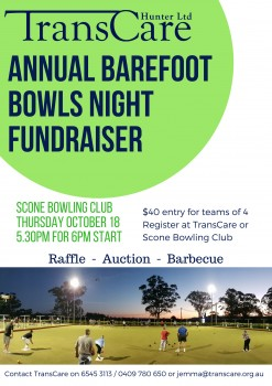 TransCare Annual Barefoot Bowls Night Fundraiser